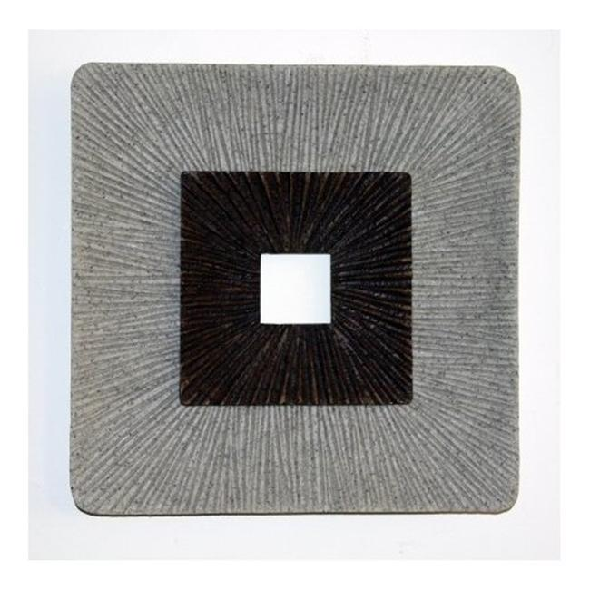 Screen Gems SGS4148-92 26 in. X 3 in. Enclave Square Wall Art with Ribbed -Pack of 2