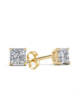 Product Image Imperial 1 4 Carat T W Princess Cut Diamond 14kt Yellow Gold Stud Earrings