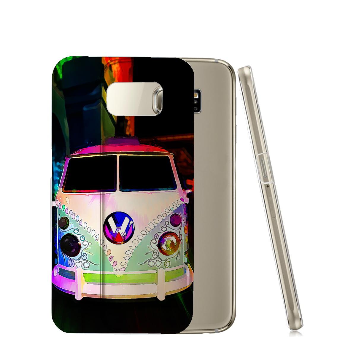 KuzmarK™ Samsung Galaxy S6 Edge Clear Cover Case - Volkswagon Van Watercolor