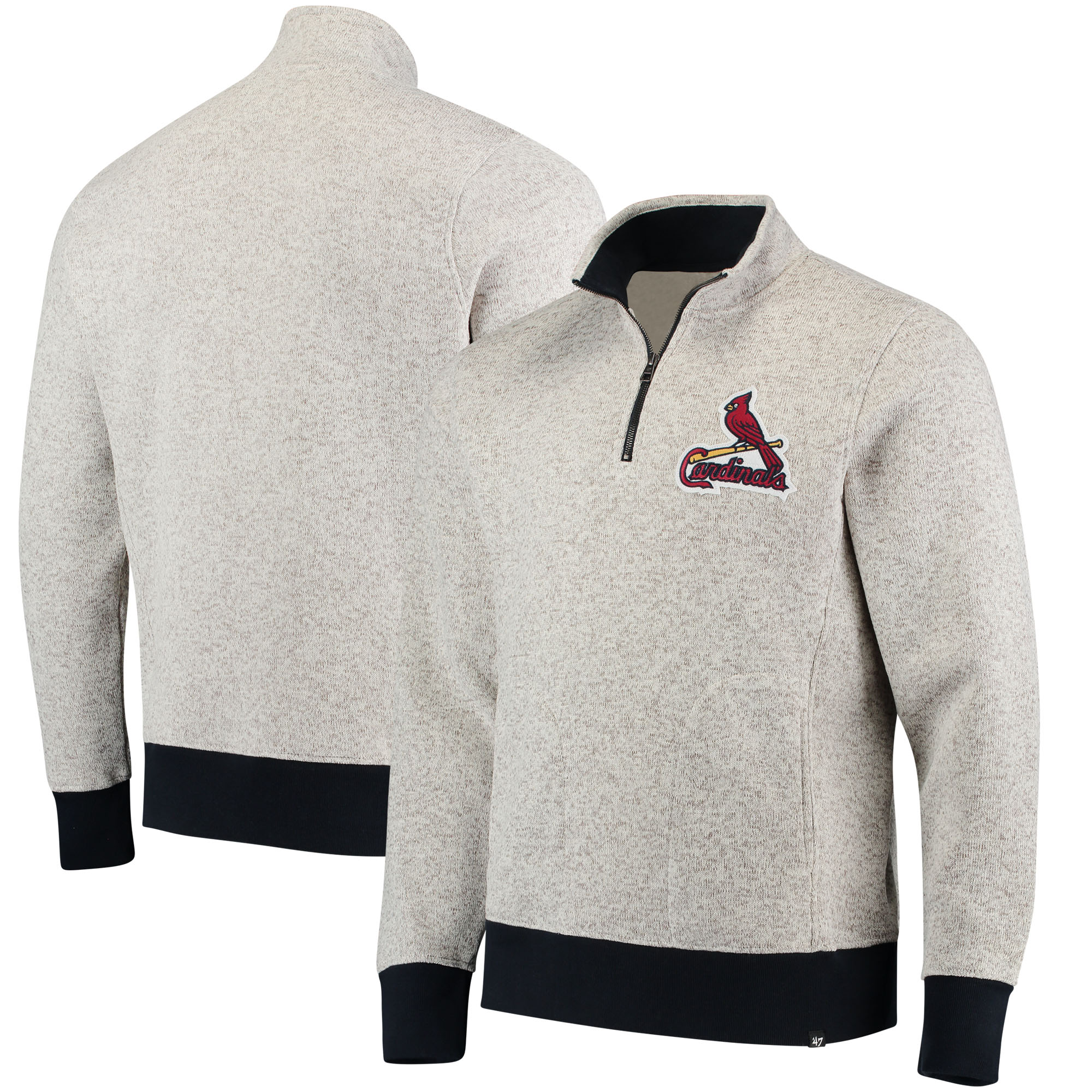 St. Louis Cardinals '47 Kodiak Quarter-Zip Pullover Jacket - Cream
