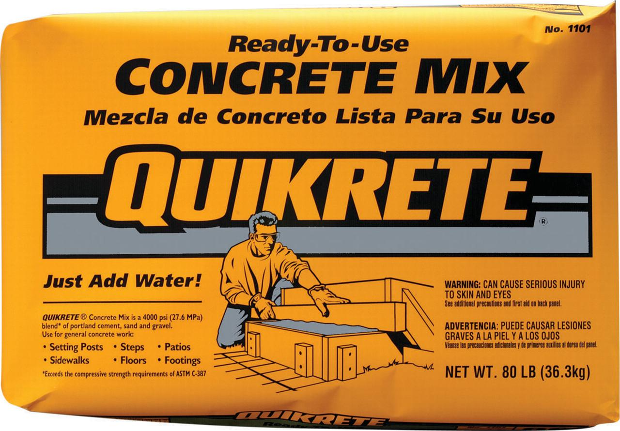 The Quikrete Companies 1101-40 Original Blend Ready-To-Use Concrete Mix, 40 lb, Bag, Gray... by QUIKRETE COMPANIES