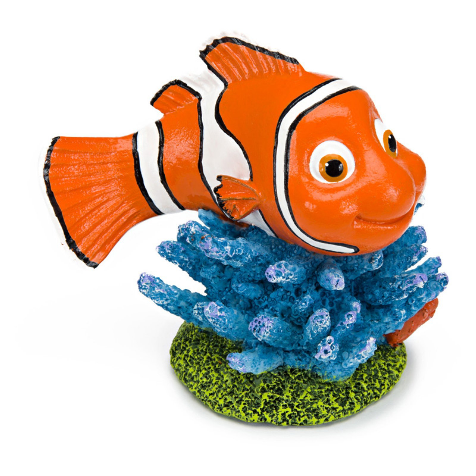 Penn Plax Finding Nemo on Coral 3.5 in. Aquarium Ornament