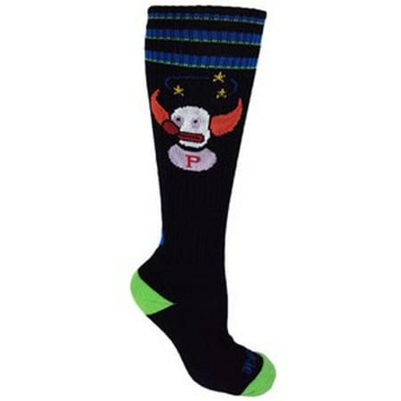MOXY Socks Knee-High Pukie the Clown Fitness Novelty - Clown Socks