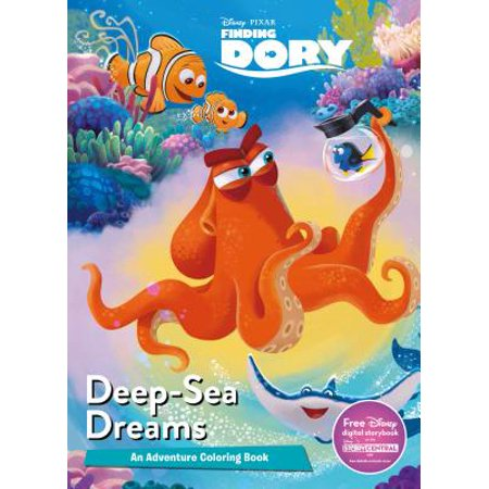 Disney Pixar Finding Dory Deep-Sea Dreams: An Adventure Coloring Book - Disney Halloween Printable Coloring Pages