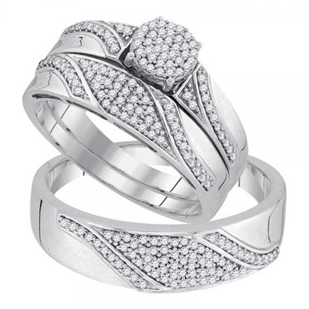 Dazzling Rock 0.50 Carat (ctw) 10K White Gold Round White...