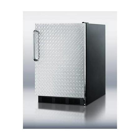 Hidden Evaporator (FF6BBIDPLADA 5.5 cu. ft. All-Refrigerator With Diamond Plate Door  Automatic Defrost  One Piece Interior Liner  Hidden Evaporator  Adjustable Shelves & In)