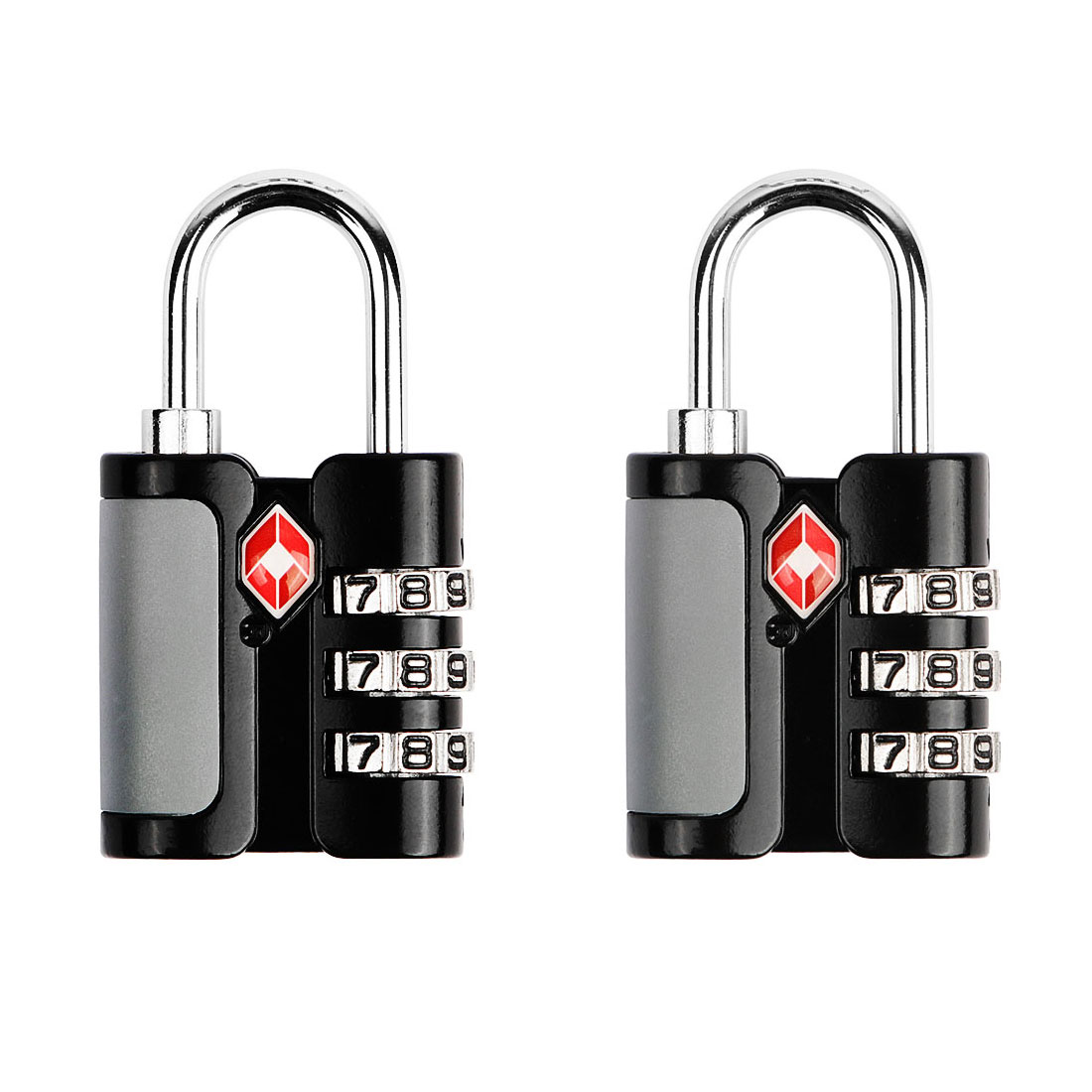 TSA Approved 3-Dial Luggage Locks Combination Padlock Travel Suitcase Security