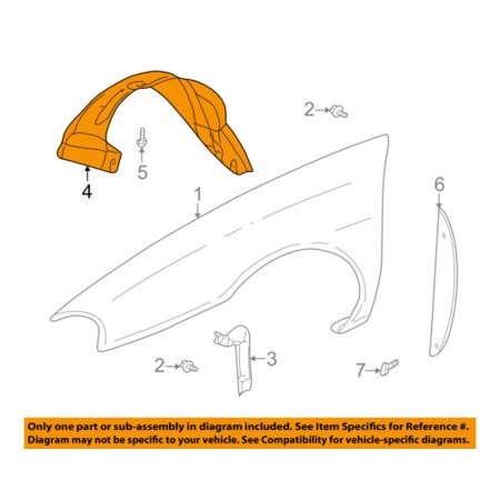 Buick GM OEM 00-05 LeSabre-Front Fender Liner Splash Shield Right 25717843 Buick Lucerne Splash Shield