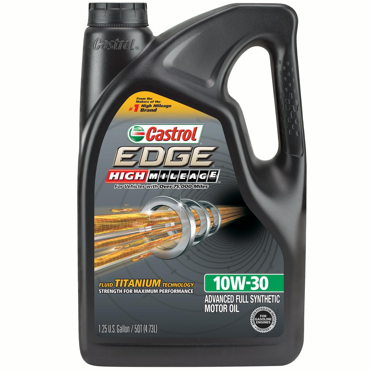 Castrol Edge High Mileage 10W-30 Advanced Full Synthetic Motor Oil, 5 qt by Castrol