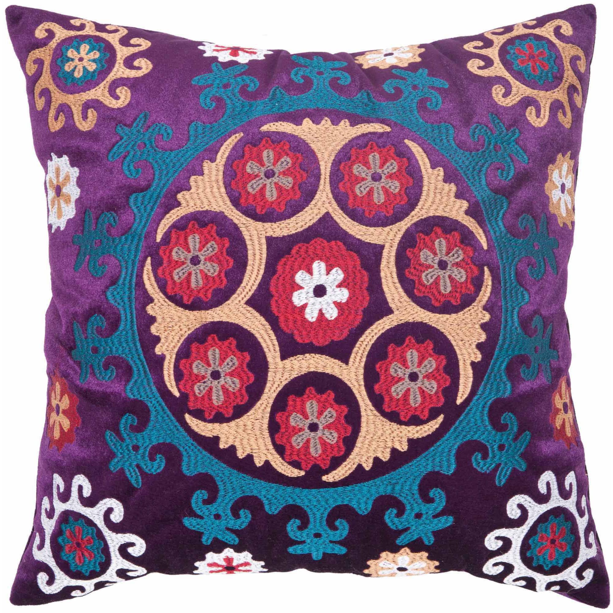 Safavieh Gold/Purple Vanessa Pillow, Set of 2