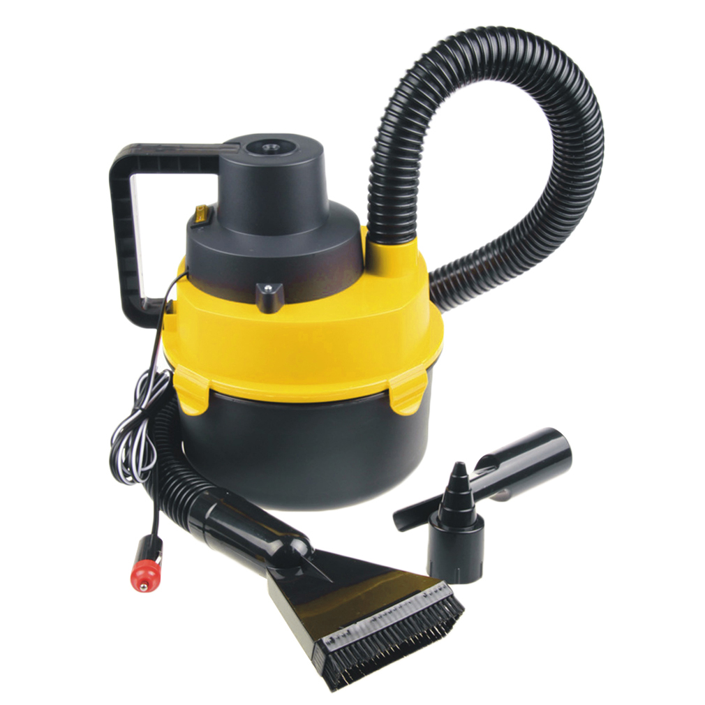 Black&Yellow Portable Powerfull Mini Auto Car Vacuum Cleaner Wet Dry DC 12 Volt by
