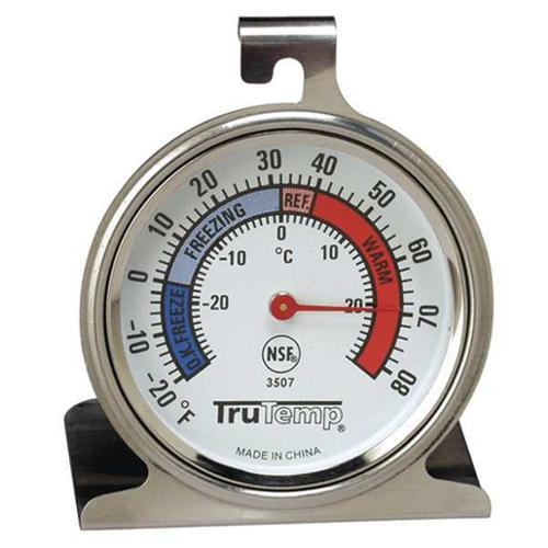 TRUTEMP 3507 Fridge/Freezer Thermometer, -20 to 80F