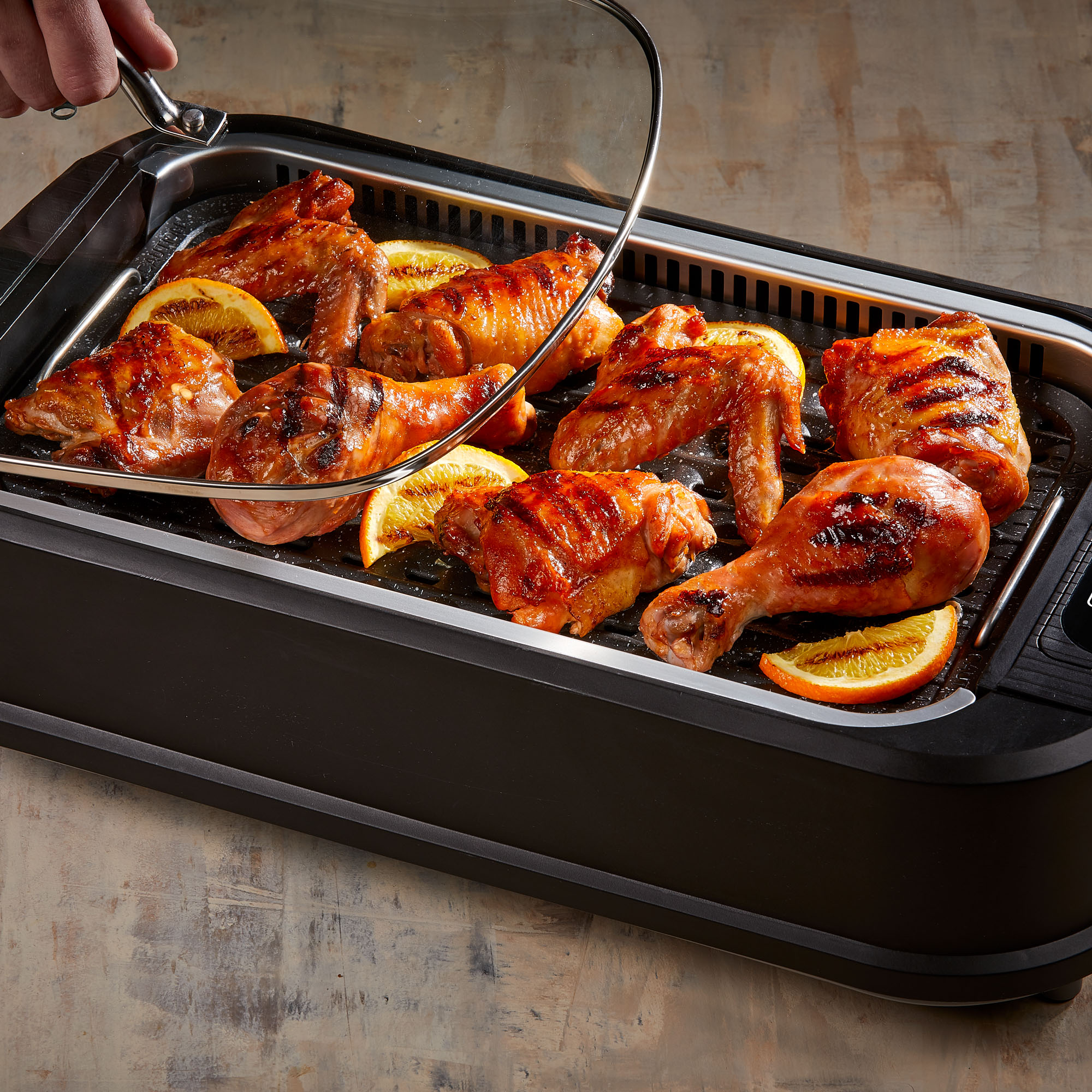 Smokeless Indoor Electric Grill POWER 1200 Watts XL Non