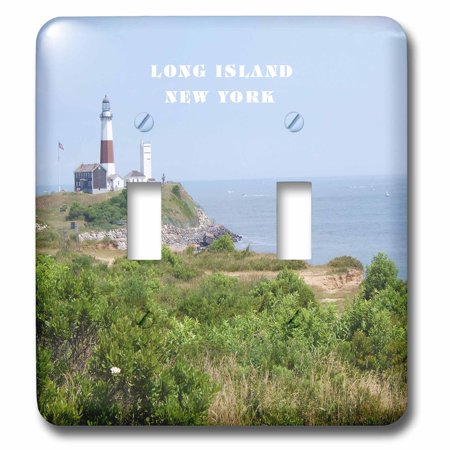 3dRose Montauk Point Lighthouse On Long Island New York - Double Toggle Switch (lsp_80604_2) ()