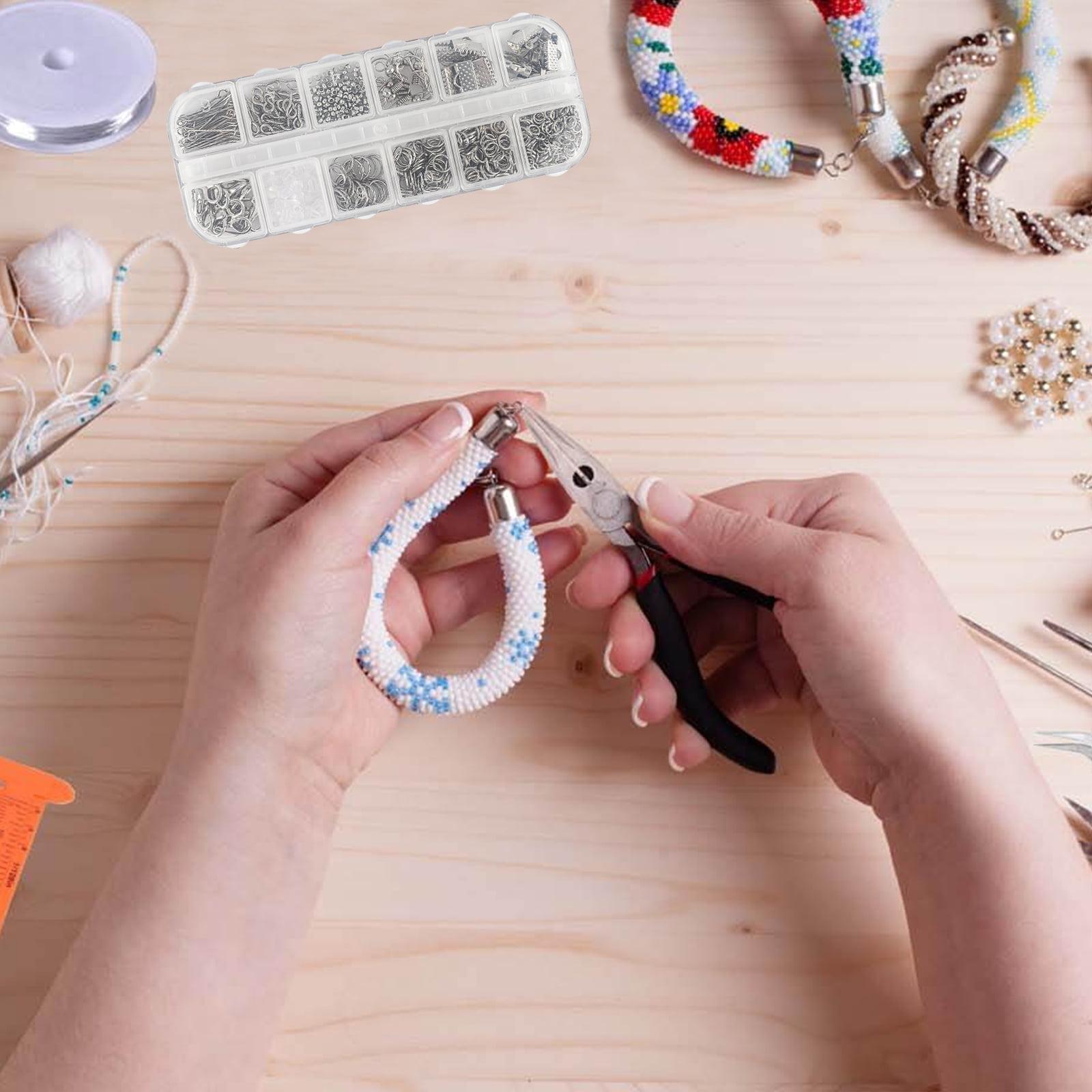 Mixed Jewelry Making Kit Findings Set Jump Rings Jewelry Plier Repair Tools