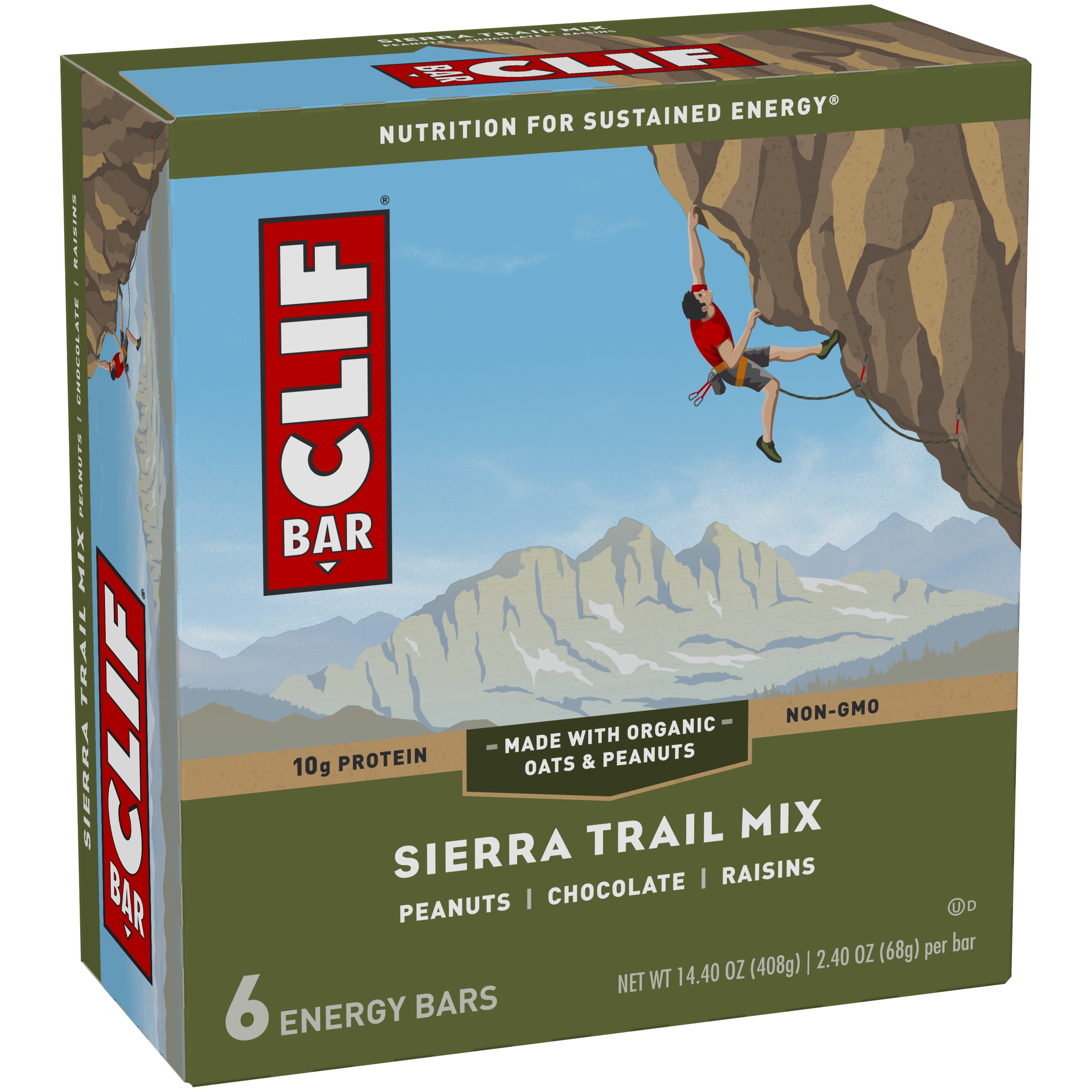 Clif Energy Bar, Sierra Trail Mix, 10g Protein, 6 Ct