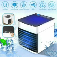 Portable USB Mini Air Conditioner Cooler LED Humidized Evaporative Fan Personal Desktop Office Home Car Cooler