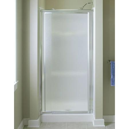 """Sterling 1530D-48S Vista Pivot II 42""""-48""""W x 69""""H Framed Pivot Shower Door, Silver/Pebble Glass Texture"""
