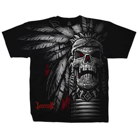 Fantasy   Chief Skull Apparel T Shirt   Black