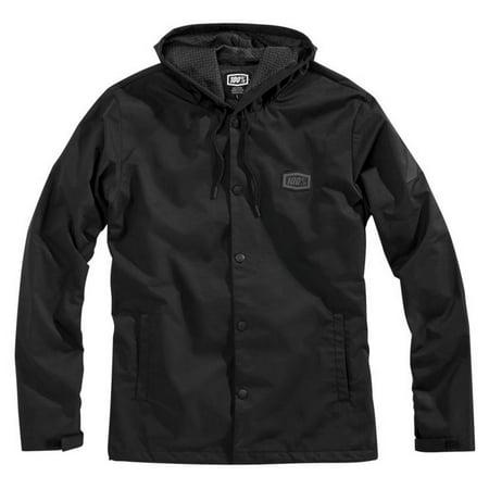 100% Apache Mens Lightweight Jacket Black (Lightweight Motorcycle Jacket)