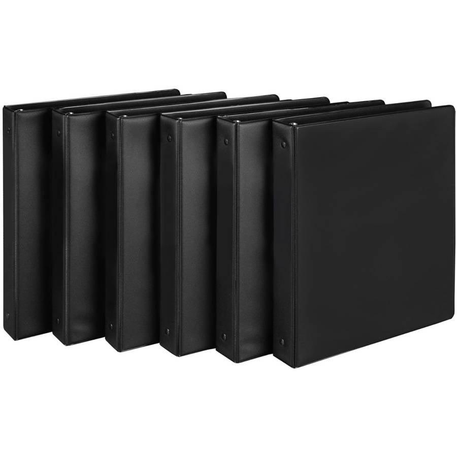 """Value Binder, 1.5"""", Black, 6-Pack"""