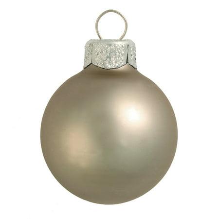 "Northlight 40ct Matte Glass Ball Christmas Ornament Set 1.25"" - Pewter Gray"