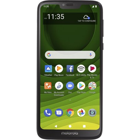 Total Wireless Prepaid Motorola Moto G7 Optimo Maxx 4G LTE (32GB) GSM - Black