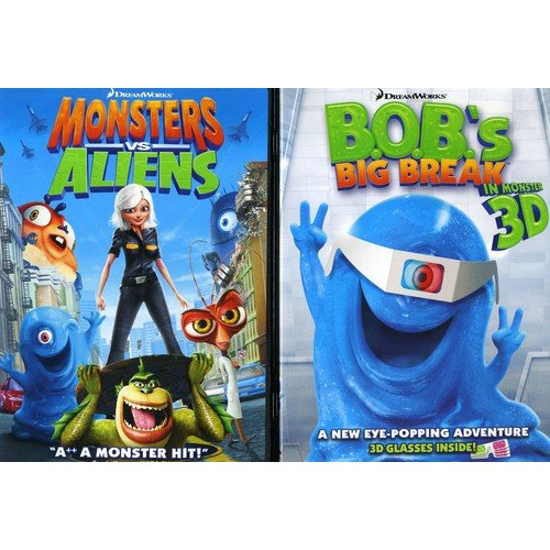 Ginormous Double Pack: Monsters Vs. Aliens / B.O.B.'s Big Break In Monster 3D (Widescreen)