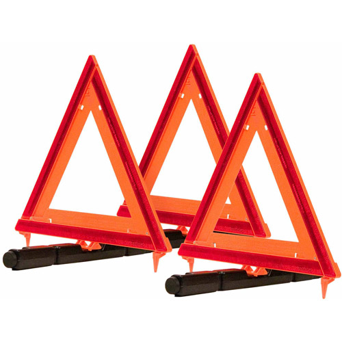 Blazer 7500 Collapsible Warning Triangles, 3pk