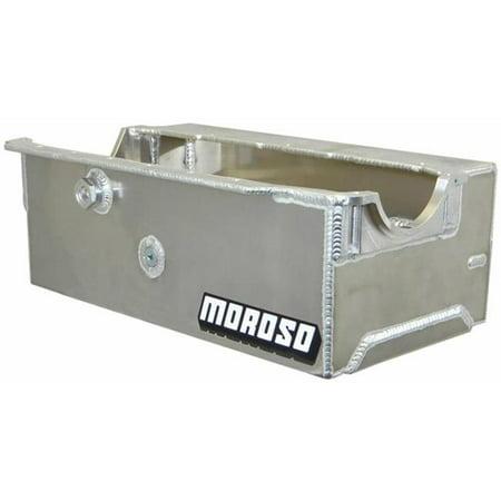 Moroso 21330 Performance Products Sprint Car Engine Oil Pan Wet Sump, 9.50 qt. - 7.25 in. Deep - Aluminium Dry Sump Oil Pan