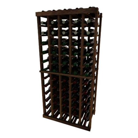 Wine Cellar Innovation Premium Redwood Vintner Series 5 Column Individual Rack, Dark Walnut Stain - 4 ft.