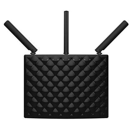 tenda ac15 ac1900 wireless wi-fi gigabit smart router, black. dual core processor, beamforming technology, parental controls, all gigabit ports tenda app