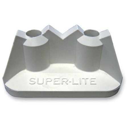 Stud Boy 2513-P3-WHT Super-Lite Pro Series Single Backer Plates -  White - (P3 Series Single)