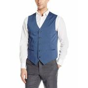 Perry Ellis Mens Classic-Fit Chambray Vest (Bay Blue,XXL)