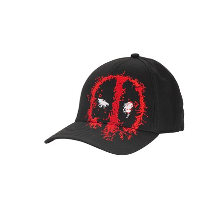 Deadpool Men's Embroidered Logo Cotton Twill Stretch-Fit Cap
