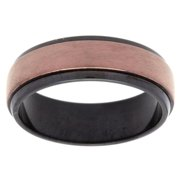 GLLC Black and Brown-plated Stainless Steel Spinner Band