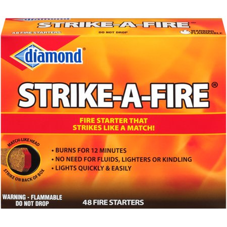 Diamond® Strike-A-Fire® Fire Starters 48 ct Box - Fire Starter Design