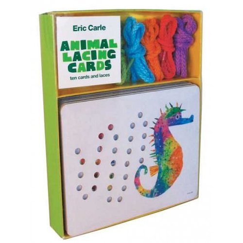 Eric Carle Animal Lacing Cards: 10 Cards & Laces with Cards and Other