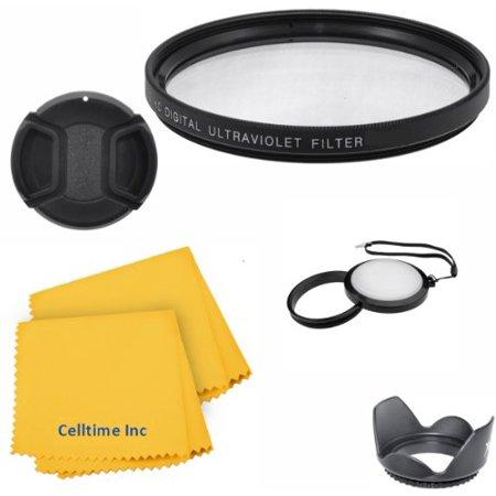 58MM Celltime Elite Lens Accessory Kit for 58MM DSLR Cameras like CANON REBEL (T5i T4i T3i T3 T2i T1i XT XTi XSi SL1), EOS (700D 650D 600D 1100D 550D 500D 100D) Cameras - Includes: Ultraviolet UV