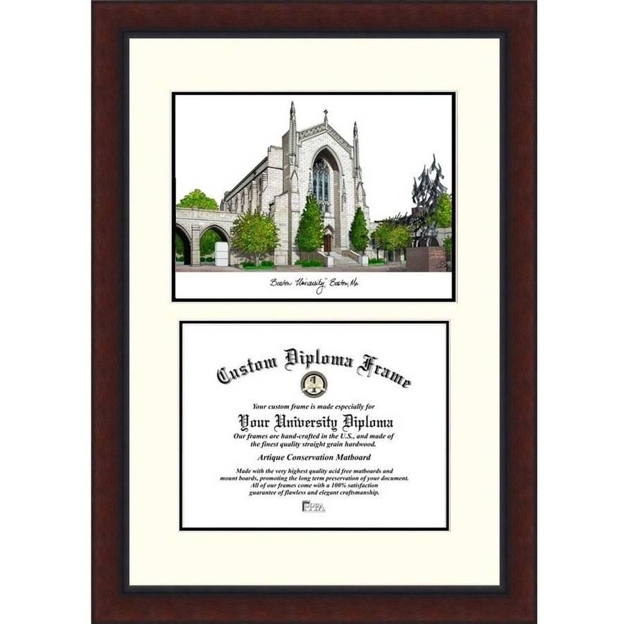 Celebration Frames American Public University 11 x 14 Mahogany Finish Infinity Diploma Frame