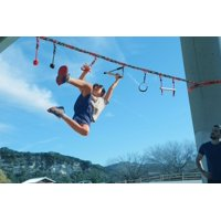 Slackers 36' Ninjaline Intro Kit with 7 Hanging Obstacles, the ultimate backyard adventure course & customizable jungle gym!