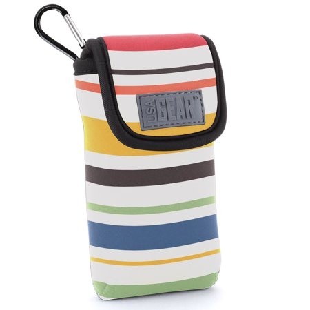USA Gear Sunglasses and Eyeglasses Case - Clip On Sunglasses Case Fits Designer Glasses & Shades - Striped