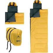 Ozark Trail 50F OPP Blanket Regular Sleeping Bag, Yellow/Gray