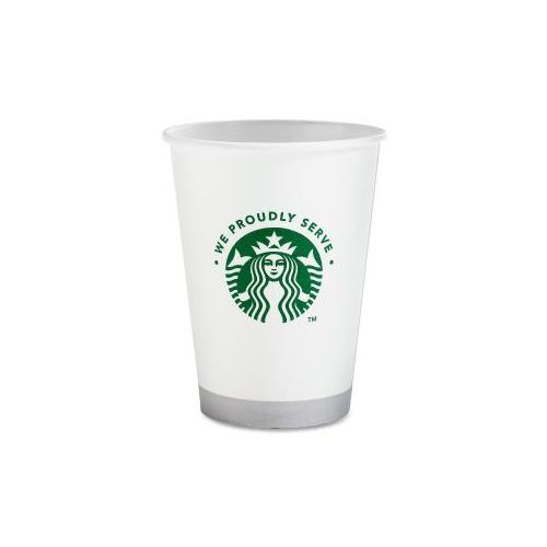 STARBUCKS COFFEE Compostable Cup, 12 oz. 1000/CT, White