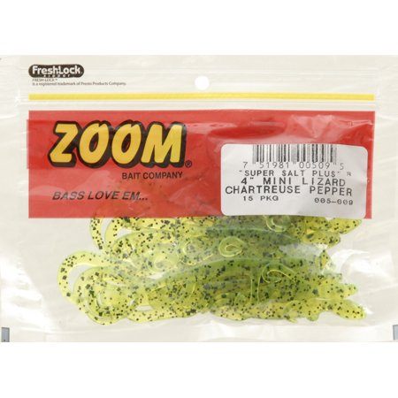 Zoom Salty Mini Lizard - Chartreuse Pepper