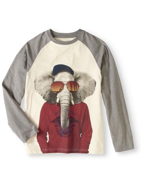 dc1611d61 Product Image Hollywood Boys' Long Sleeve Raglan T-shi