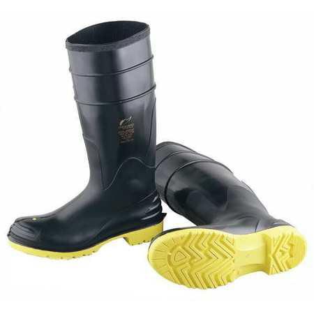 ONGUARD 868021033 Knee Boots, Men, 10, Steel Toe, Blk/Ylw, 1PR