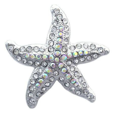 cocojewelry Starfish Bride Bridesmaid Brooch Pin Necklace Pendant Wedding Women - Starfish Brooch