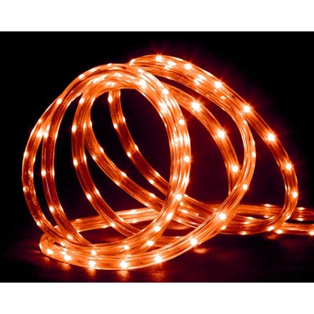 18 orange led indooroutdoor christmas rope lights 2 bulb 18 orange led indooroutdoor christmas rope lights 2 bulb spacing aloadofball Image collections