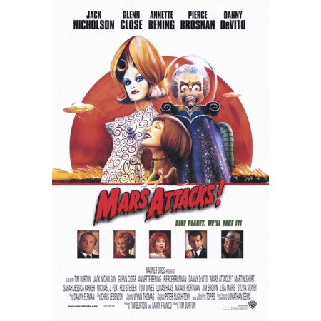 Mars Attacks (1996) 11x17 Movie (Mars Attacks Poster)